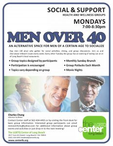 Men over forty group flyer