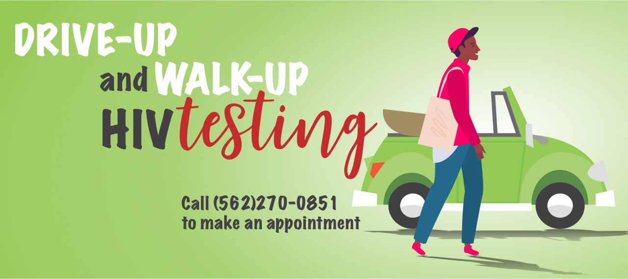 Drive-Up and Walk Up HIV Testing